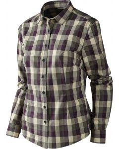 Härkila Lara Lady skjorte ternet plum perfect