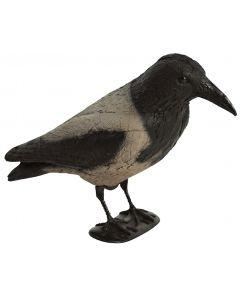Krage grå/sort med ben /flock