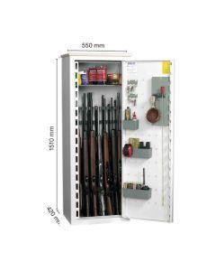 Nor-Lyx våbenskab HL1000  til 16 våben 151 x 55 x 42 cm elektronisk kodelås fragtfrit leveret