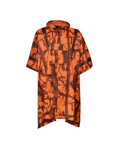 Percussion poncho orange camo